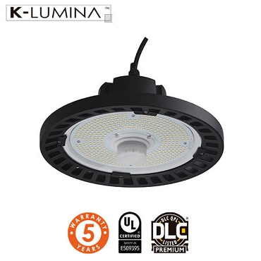 240W LED UFO High Bay - 5700K - Hook Mount - UL&DLC - 5 Year Warranty